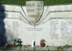 II. világháborús emlékmű Nagyhajmás